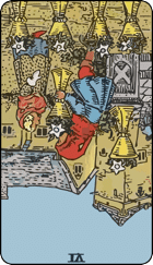 Reversed meaning of the Six of Cups