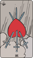 Reversed meaning of the Three of Swords