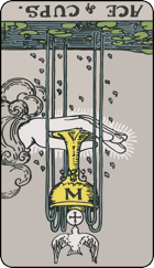 Reversed meaning of the Ace of Cups