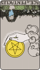 Reversed meaning of the Ace of Pentacles