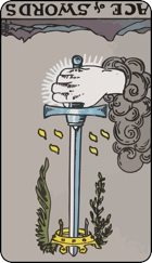reversed ace of swords tarot card meanings
