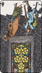 Reversed meaning of the Five of Pentacles