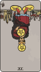 Reversed meaning of the Four of Pentacles