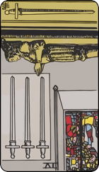 Reversed meaning of the Four of Swords