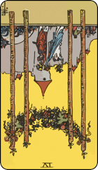 Reversed meaning of the Four of Wands