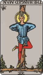 Reversed meaning of the Hanged Man