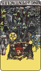 Reversed meaning of the King of Pentacles