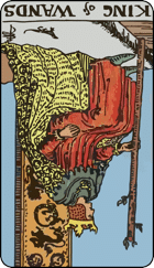 Reversed meaning of the King of Wands