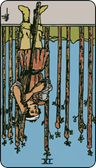 Reversed meaning of the Nine of Wands