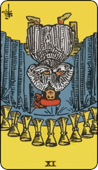 Reversed meaning of the Nine of Cups