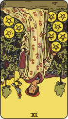 Reversed meaning of the Nine of Pentacles