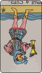 Reversed meaning of the Page of Cups