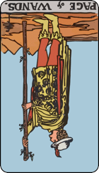 Reversed meaning of the Page of Wands