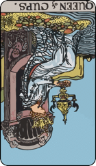 Reversed meaning of the Queen of Cups