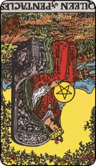 Reversed meaning of the Queen of Pentacles