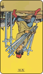 Reversed meaning of the Seven of Swords