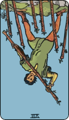 Reversed meaning of the Seven of Wands