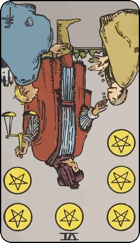 Reversed meaning of the Six of Pentacles