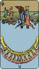 Reversed meaning of the Ten of Cups