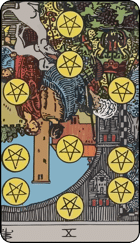 Reversed meaning of the Ten of Pentacles