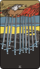 Reversed meaning of the Ten of Swords