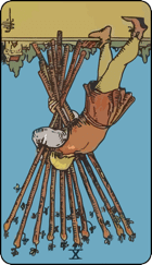 Reversed meaning of the Ten of Wands