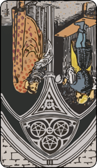 Reversed meaning of the Three of Pentacles