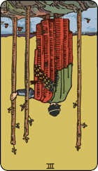 Reversed meaning of the Three of Wands