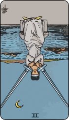 Reversed meaning of the Two of Swords
