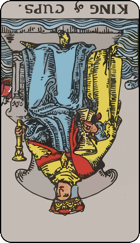Reversed meaning of the King of Cups