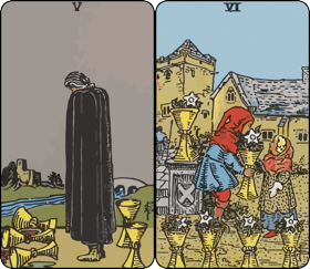 five and six of cups