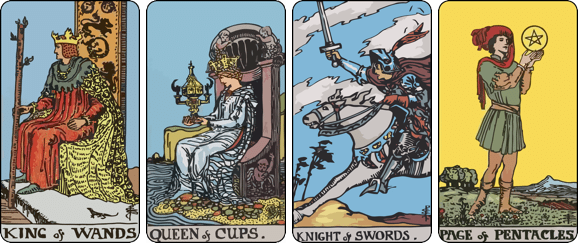 The four levels of Court cards in Tarot