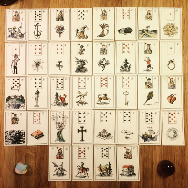 Choose a suitable Lenormand deck