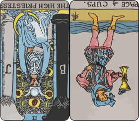 Tarot cards reversed