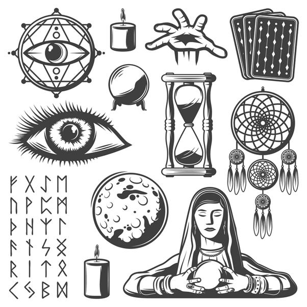 Human Tarot symbols