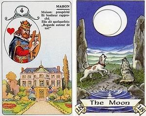 The House Card & Moon Card