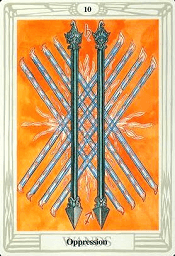 10 of Wands Thoth