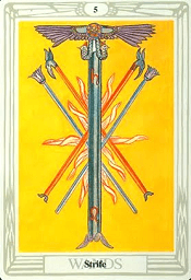 5 of Wands Thoth