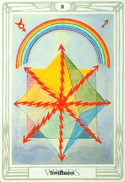 8 of Wands Thoth