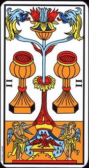 2 De Coupe Tarot