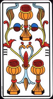 3 De Coupe Tarot