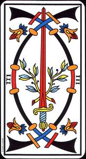 3 D'épée Tarot