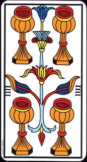 4 De Coupe Tarot