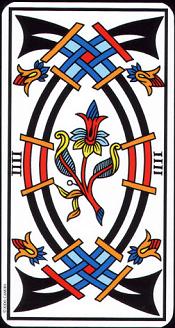 4 D'épée Tarot