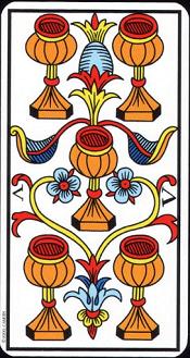 5 De Coupe Tarot