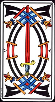 5 D'épée Tarot