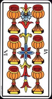 6 De Coupe Tarot