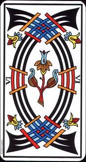 6 D'épée Tarot