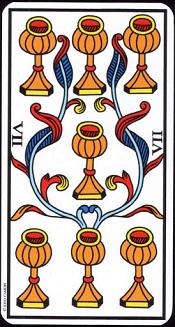 7 De Coupe Tarot