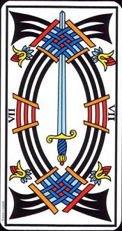 7 D'épée Tarot